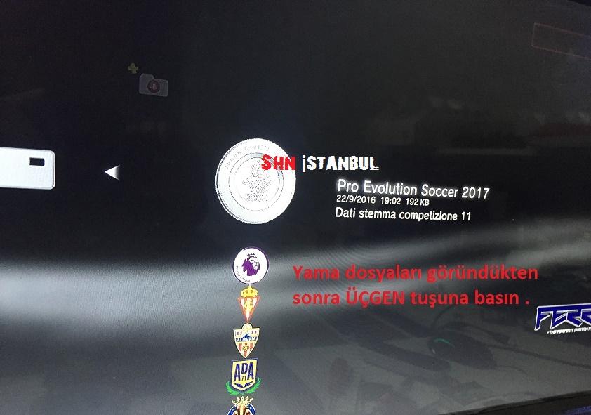 ps3 pes 2017 yaması